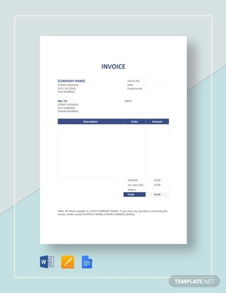 27+ Printable Invoice Examples  Samples - Word, PDF Examples
