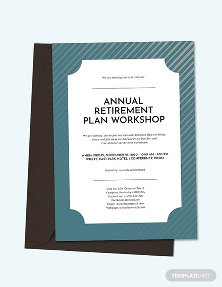 15+ Best Retirement Invitation Templates  Examples Download Now
