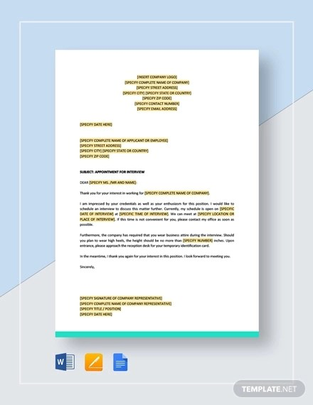 60+ Appointment Letter Examples  Samples - PDF, DOC Examples