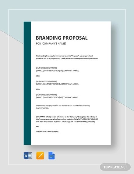 13+ Branding Proposal Examples - PDF, DOC, Pages Examples
