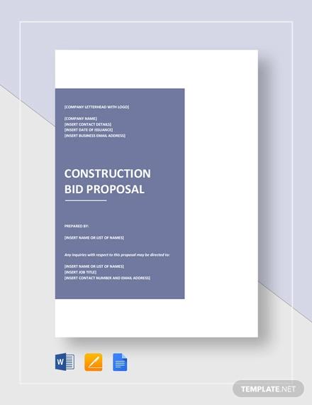 12+ Bid Proposal Examples - PDF, DOC Examples