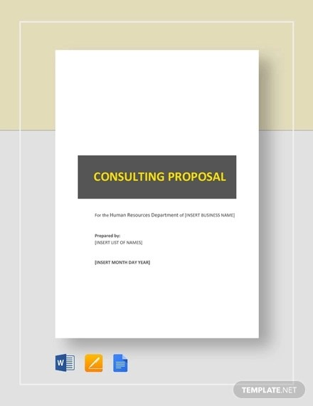14+ Consulting Proposal Examples - PDF, DOC, AI, PSD Examples