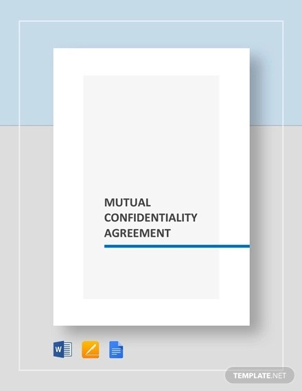 14+ Mutual Confidentiality Agreement - PDF, DOC Examples