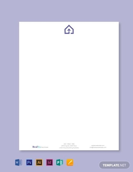 15+ Best Real Estate Letterhead Examples  Templates Download Now
