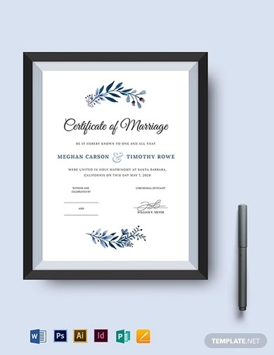 10+ Best Wedding Certificate Examples  Templates Download Now