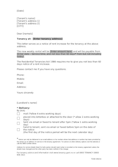 7+ Best Rental Increase Letter Examples  Templates Download Now