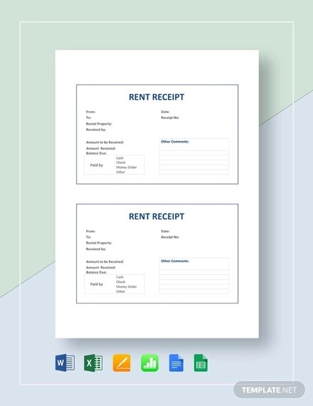 9+ Rent Receipts Examples  Samples Examples