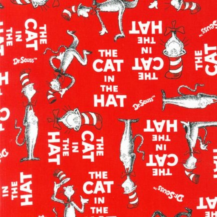 The Cat In The Hat Book Cover Red - Discount Designer Fabric
