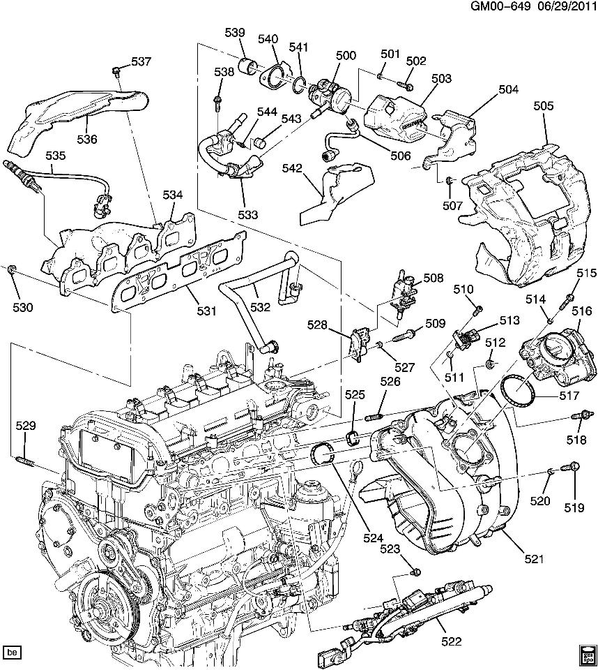 2011 chevy equinox 2.4 engine diagram