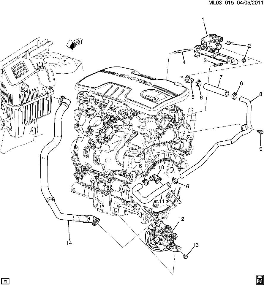 2011 gmc terrain engine diagram