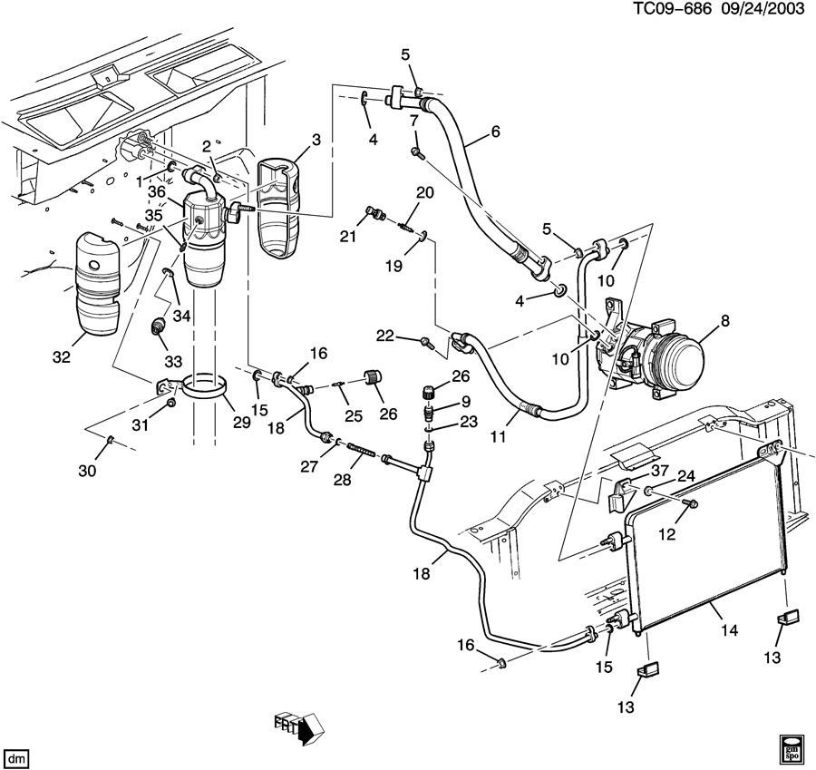 2004 chevy silverado ac diagram