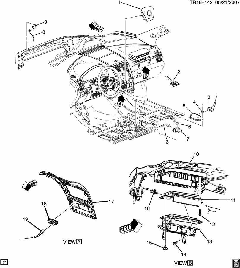 air bag wiring diagram 2009 buick enclave