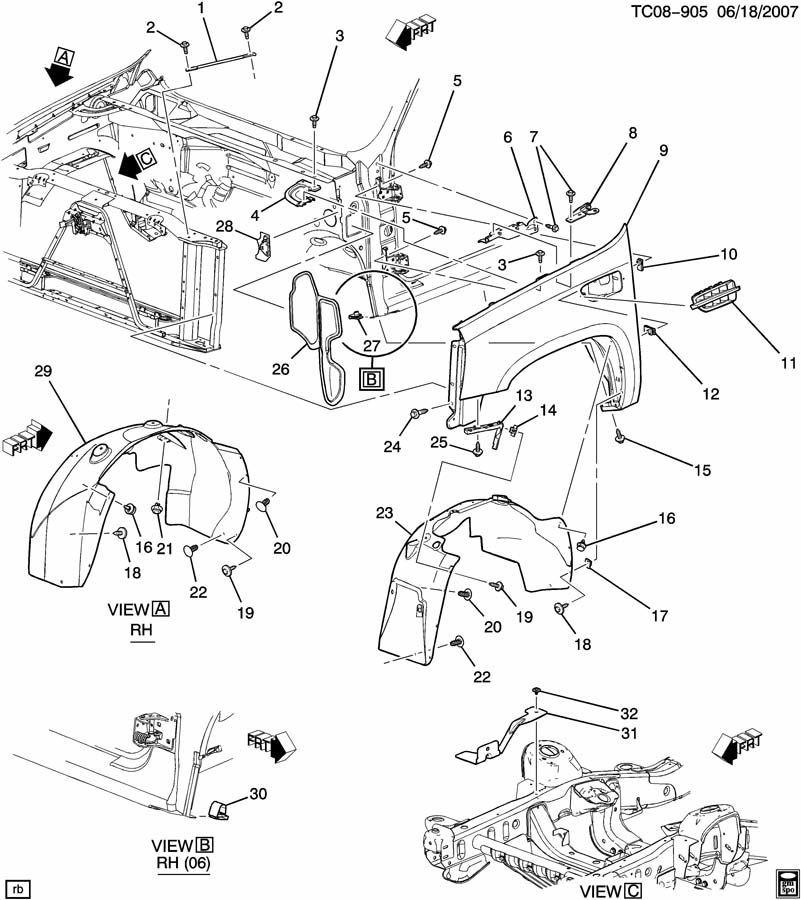 gm factory parts diagram