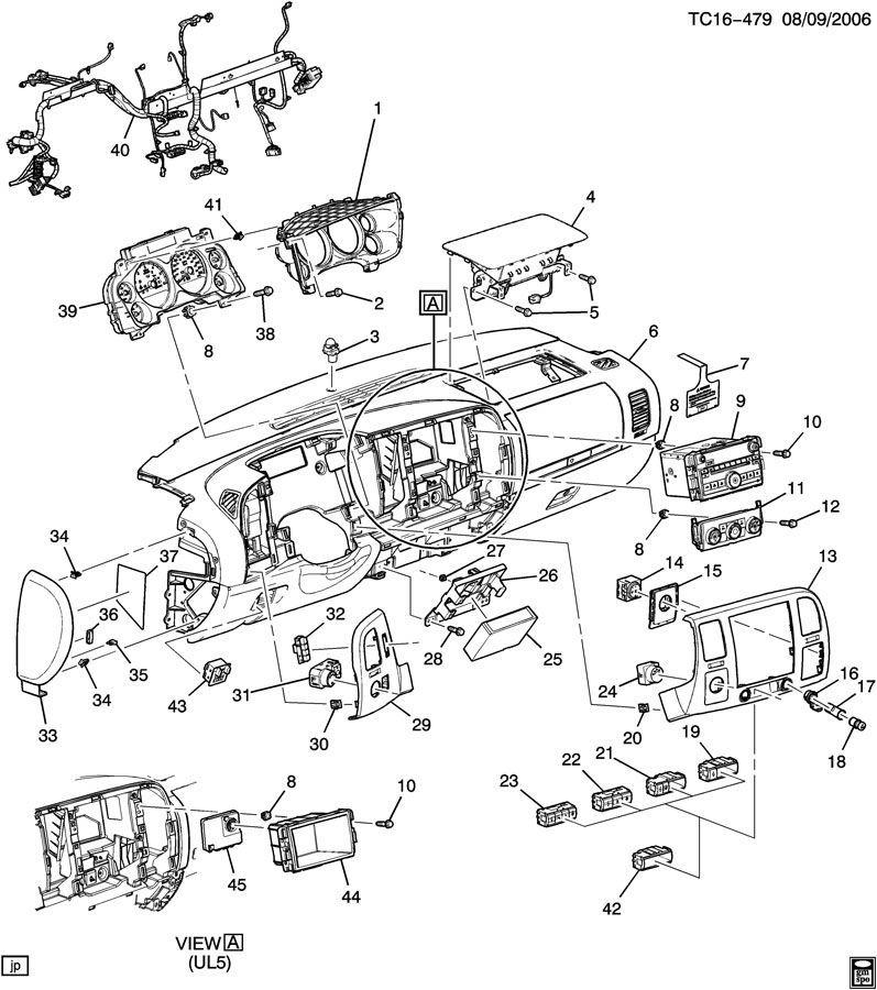 2007 gmc sierra parts diagram