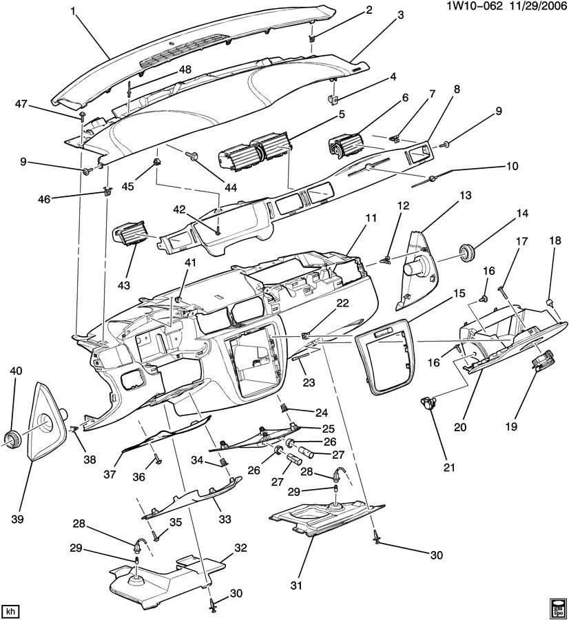 2003 gmc sonoma under dash fuse box diagram