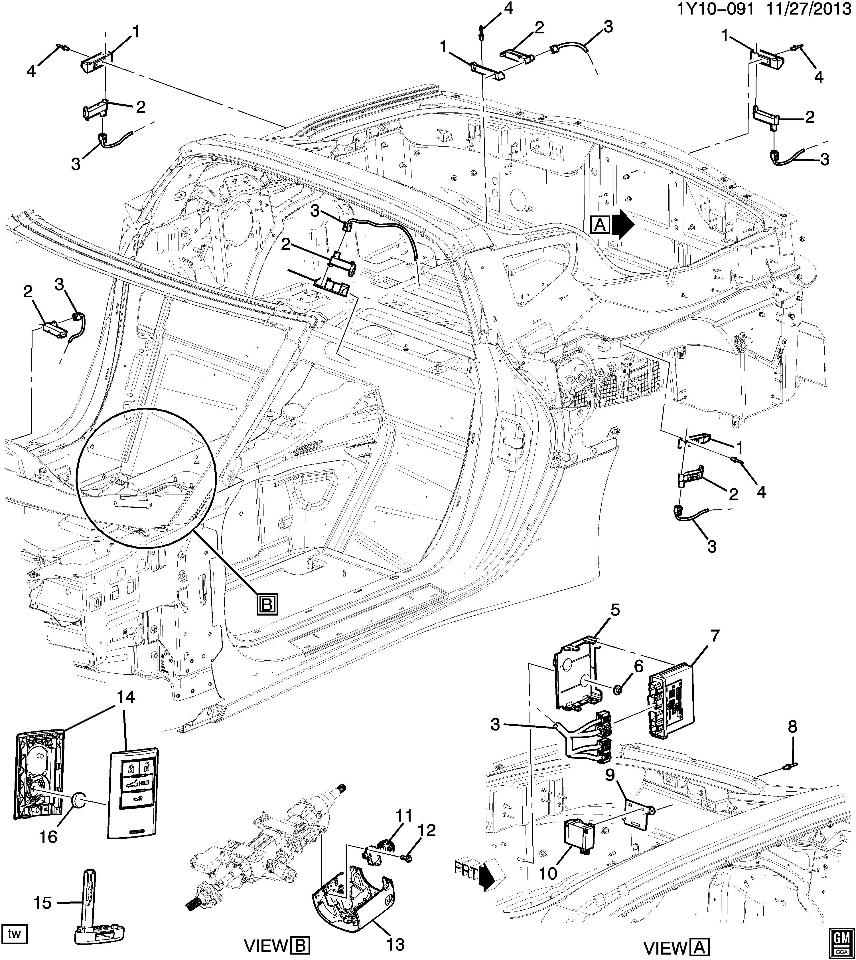 gm key fob diagram