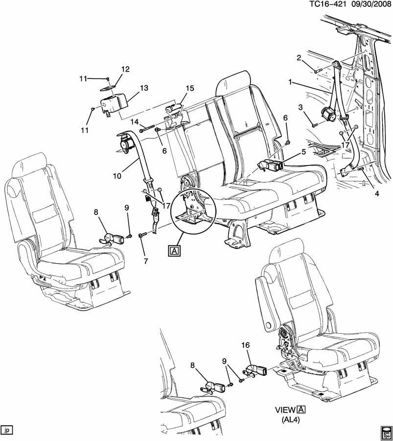 2003 chevy silverado seat parts diagram