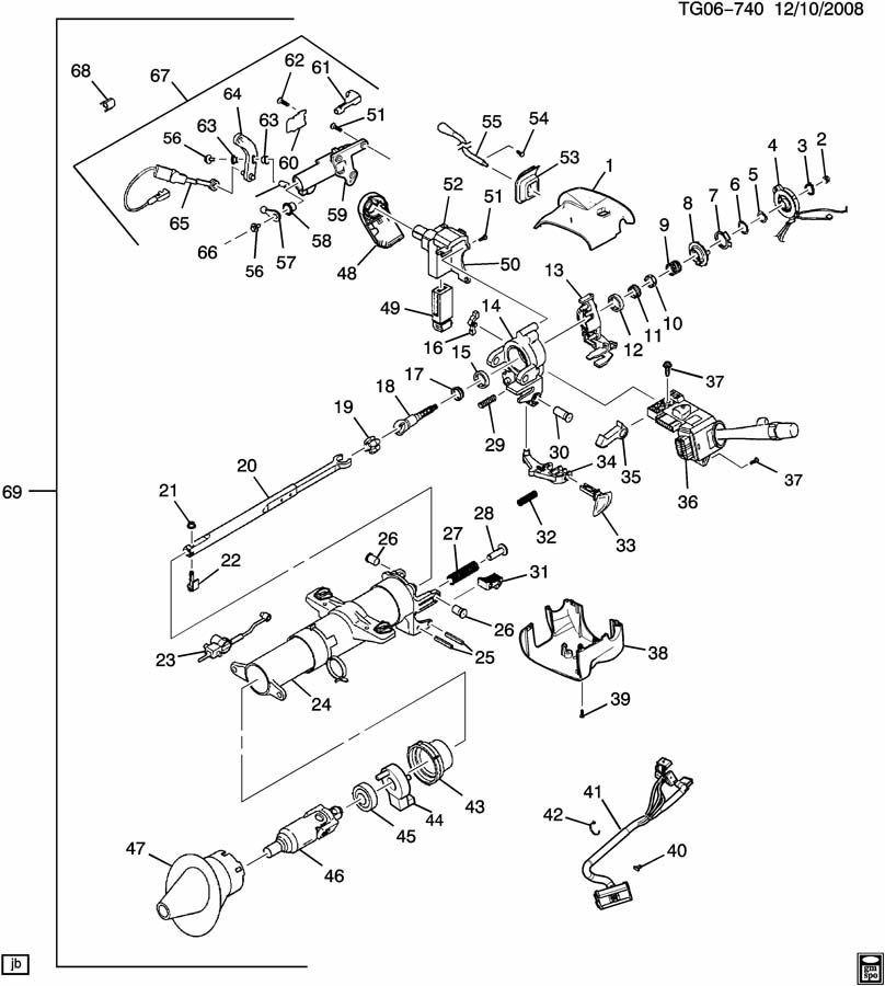 general motors steering column wiring diagram