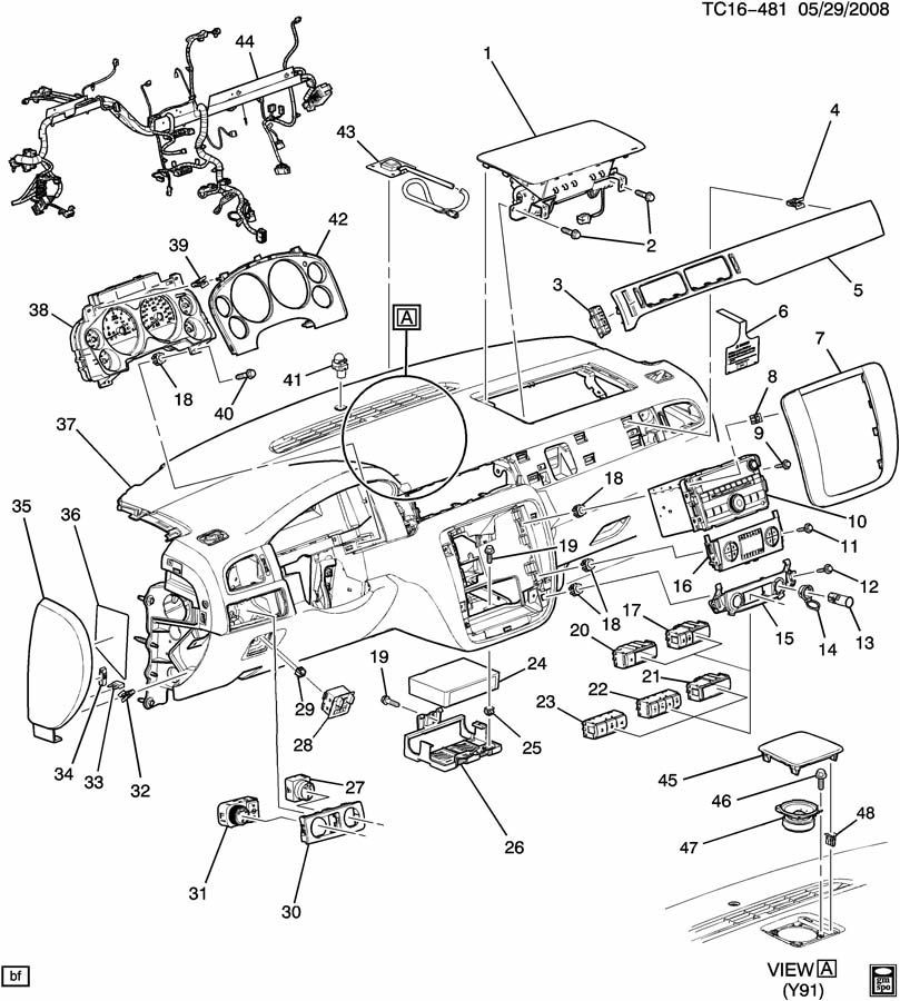 chevrolet tailgate diagram