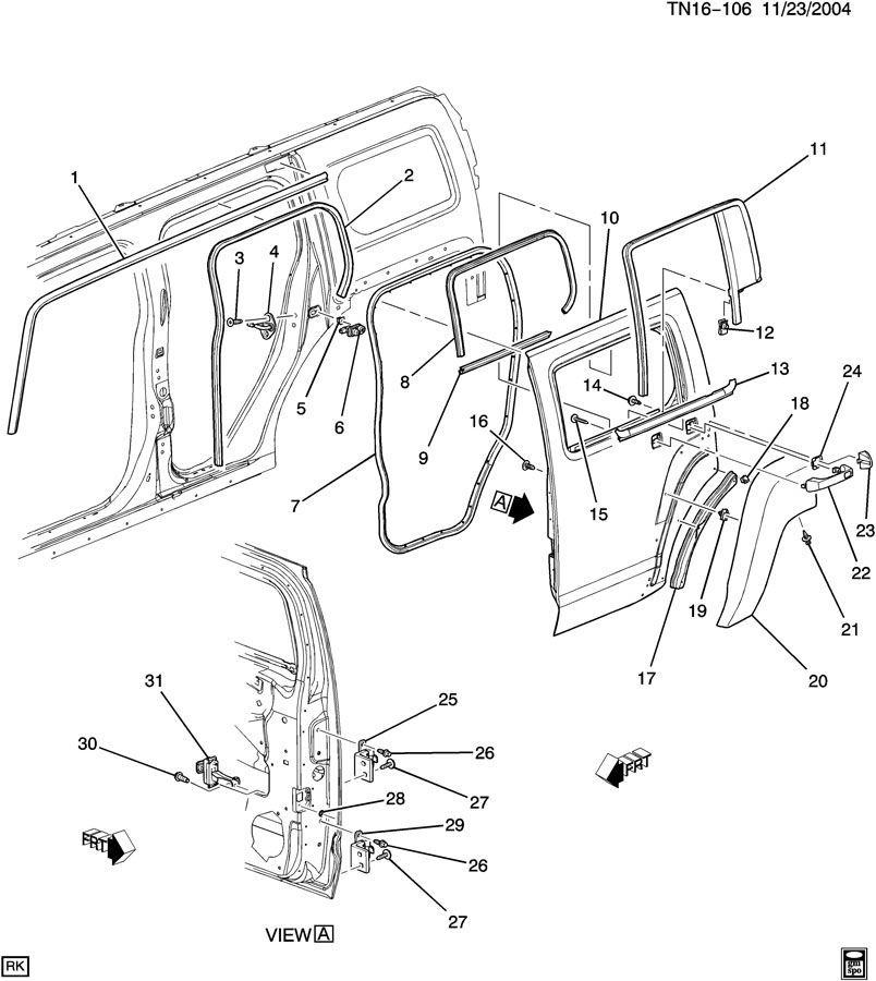 hummer h2 wiring harness rear side door