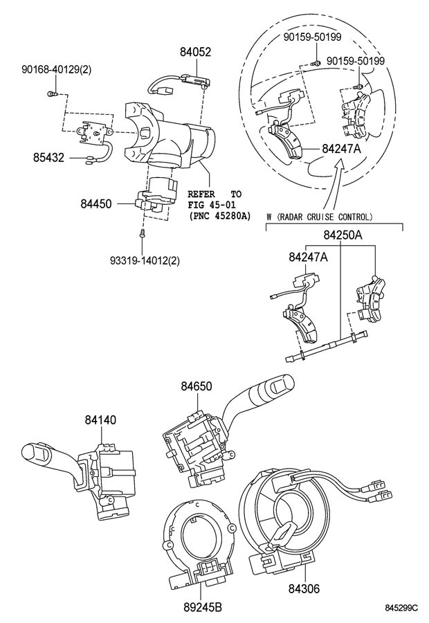 toyota steering wheel radio control