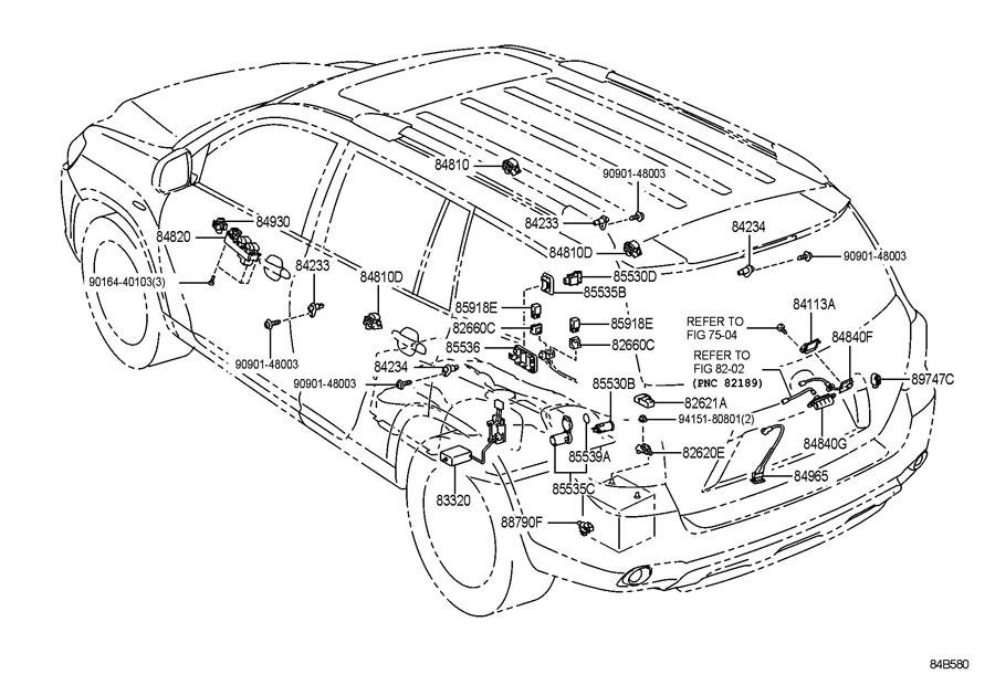 2008-2013 Toyota Highlander Rear Hatch Glass Opener Wire Harness New