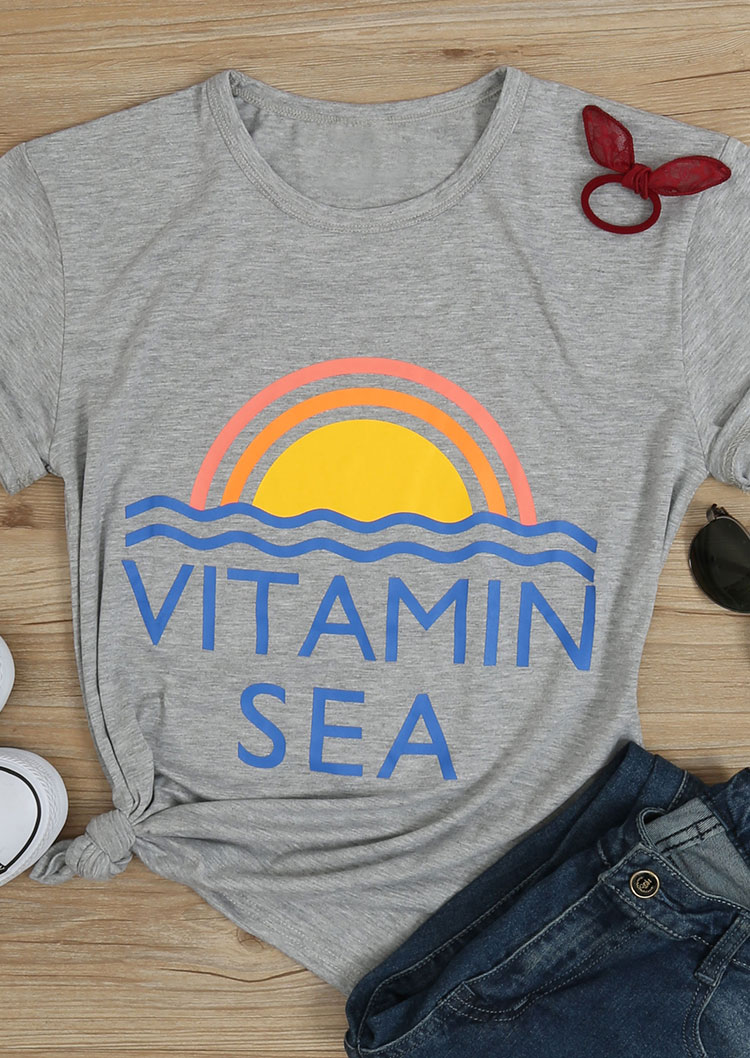 Tank Tops Vitamin Sea T-shirt Without Necklace - Fairyseason