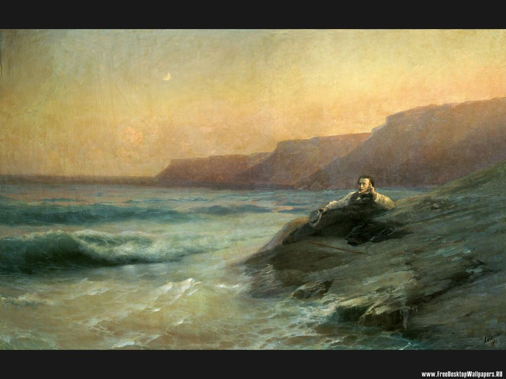 At Sea Pushkin At Sea Coast Fine Art Wallpaper 692012 Fanpop