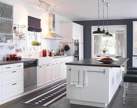 Ikea kitchen Under $12k White appliances, Cabinet lighting and