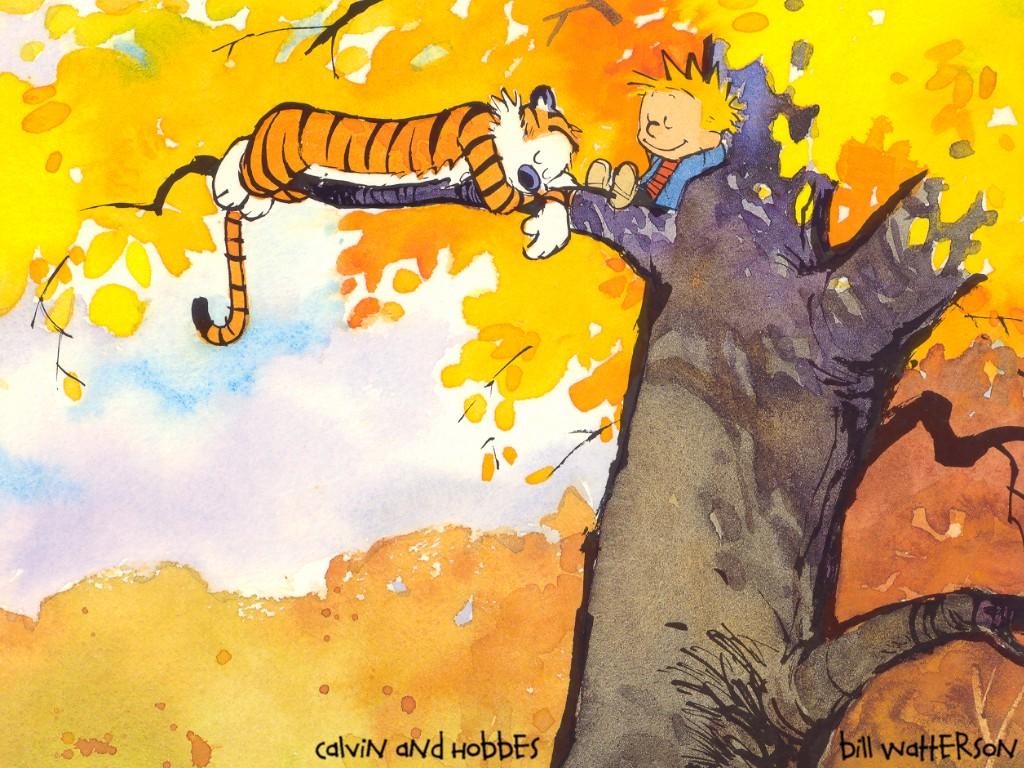 Calvin And Hobbes Fall Wallpaper In Tree Calvin Amp Hobbes Wallpaper 318462 Fanpop