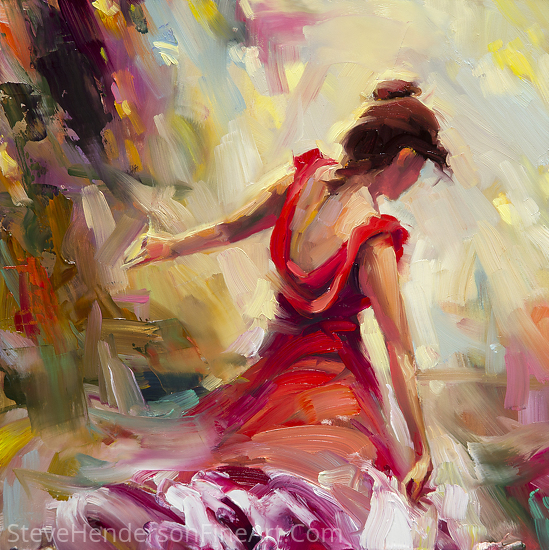 Dancer -- Open Edition Licensed Print at iCanvasART and Framed Canvas Art by Steve Henderson  ~  x