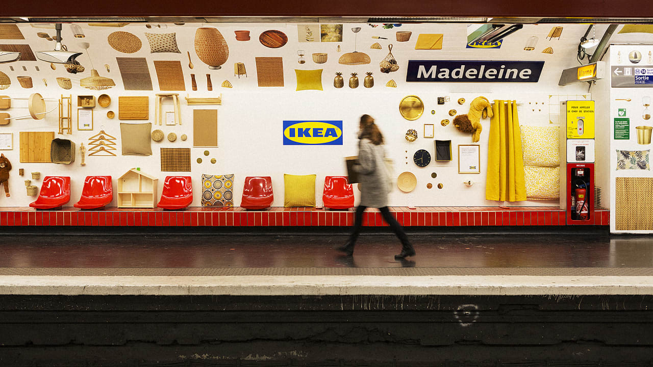 Ikea French Days Ikea Installs 1 500 Products In Paris S Madeleine Metro Station
