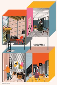 Contemporary Illustrators Reimagine Herman Miller Classics