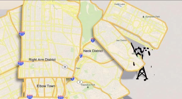 A Thirsty Oil-Drinking Monster, Animated From Online Maps