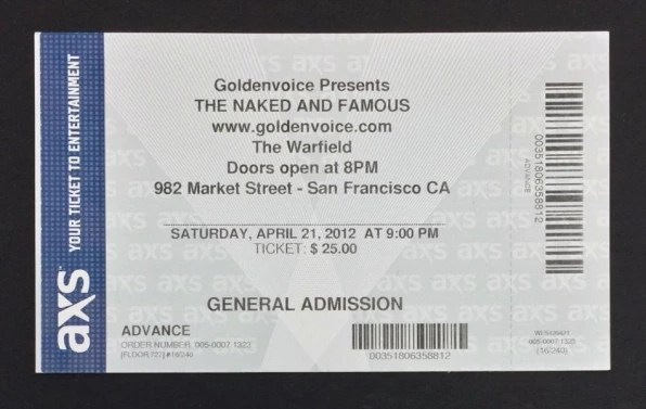 Dear Ticketmaster, Please Fix Your Crappy Tickets - printable ticket paper