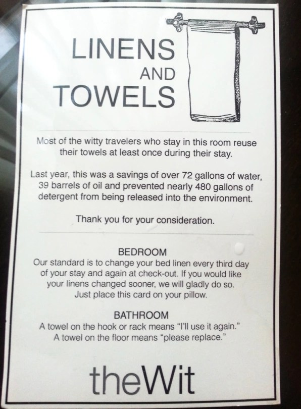 Read About How Hotels Get You To Reuse Towels Everyone\u0027s Doing It