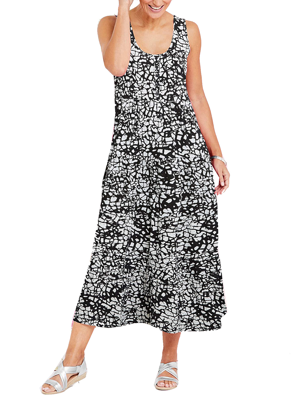 Wholesale Suits Manufacturers Julipa Julipa Black Printed Tiered Jersey Maxi Dress