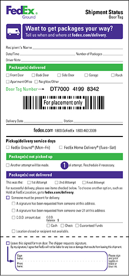 Pickup and Delivery Service Options - FedEx - ups signature release form