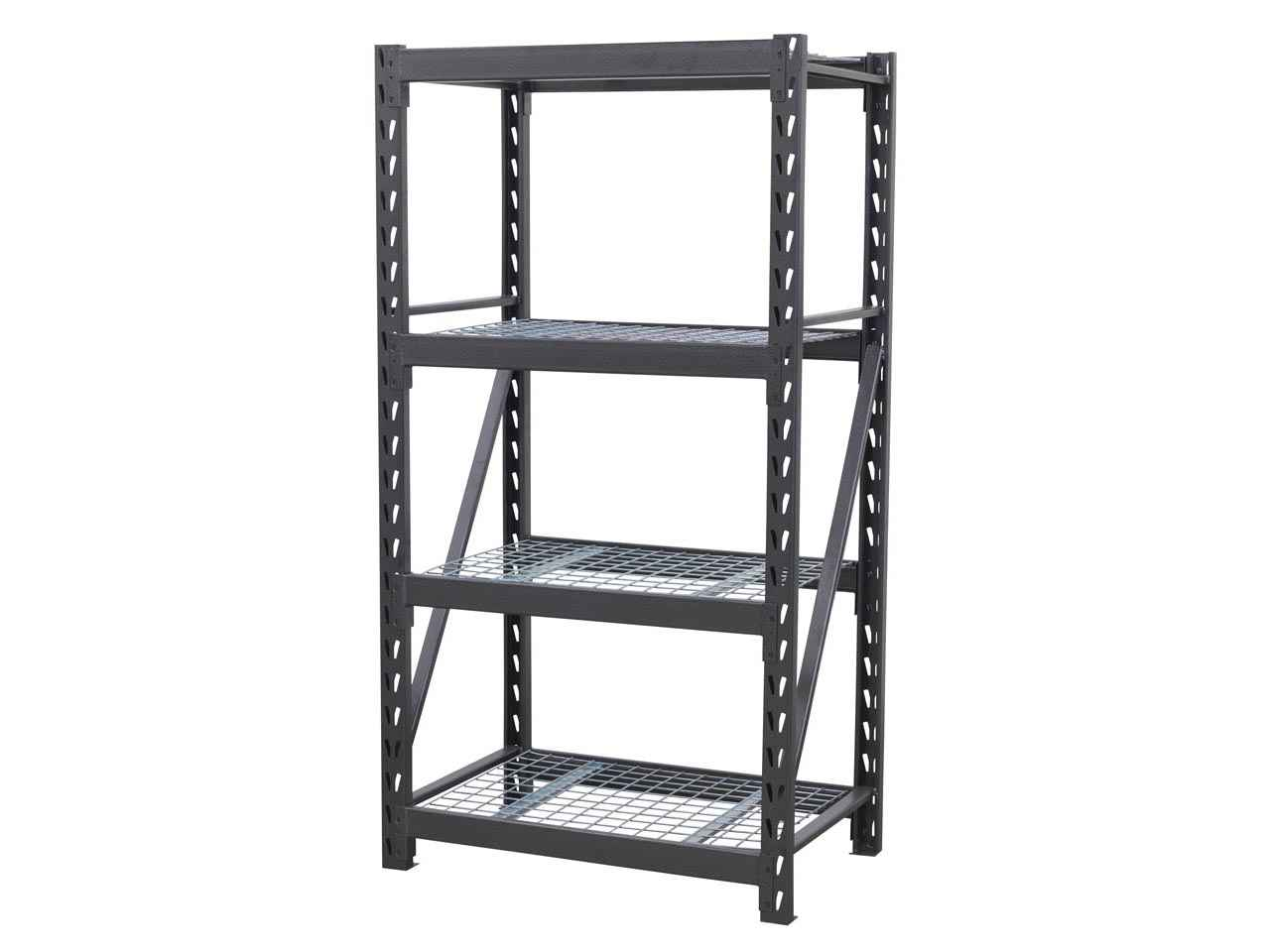 Mesh Shelving Sealey Ap6372 Heavy Duty Racking Unit With 4 Mesh Shelves 640kg Capacity Per Level 978mm