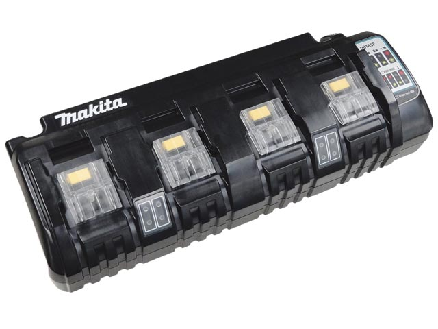Oplader Black En Decker 12 Volt Makita Dc18sf Multi Four Port Li Ion Charger 14 4v 18v