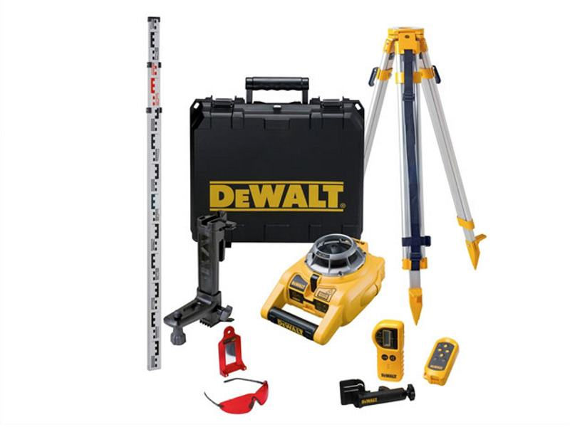 Laser Rotatif Exterieur Dewalt Dew075pk Self Leveling Horizontal And Vertical