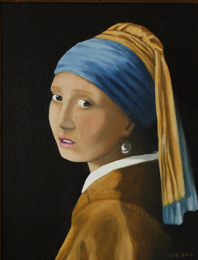 Girl With A Pearl Earring by Sid Ball