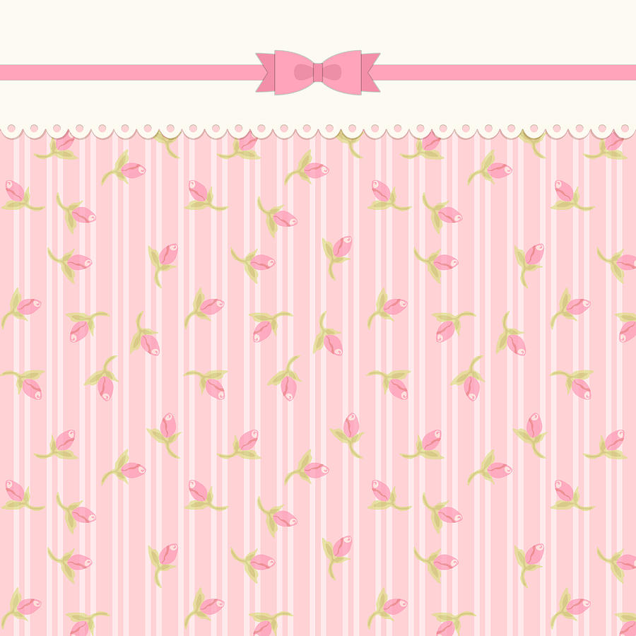 Shabby Chic Cute Shabby Chic Floral Background For Your Decoration By Iryna Shkrabaliuk