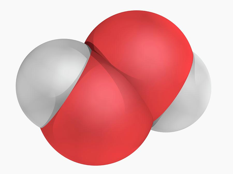 Hydrogen Peroxide Molecule Photograph by Laguna Design/science