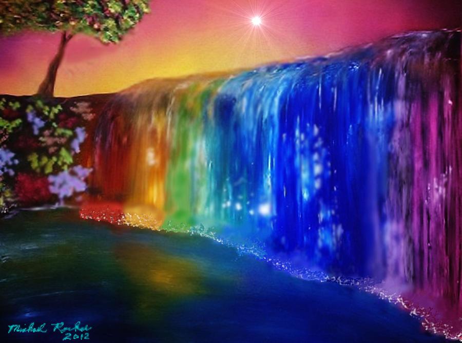 Yosemite Falls Wallpaper Rainbow Waterfall By Michael Rucker