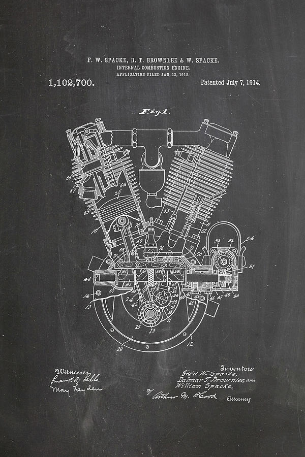 Firefly Iphone Wallpaper Quote 1914 Engine Patent Art Chalkboard Digital Art By