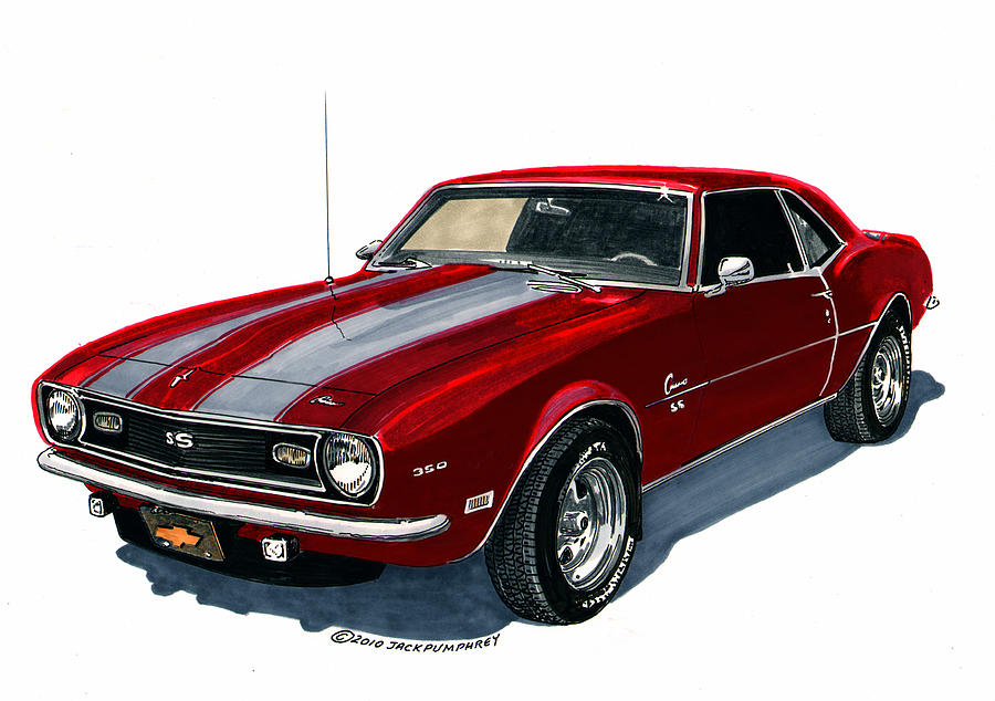 Project Cars Wallpaper Red 1968 Camaro S S 350 Painting By Jack Pumphrey