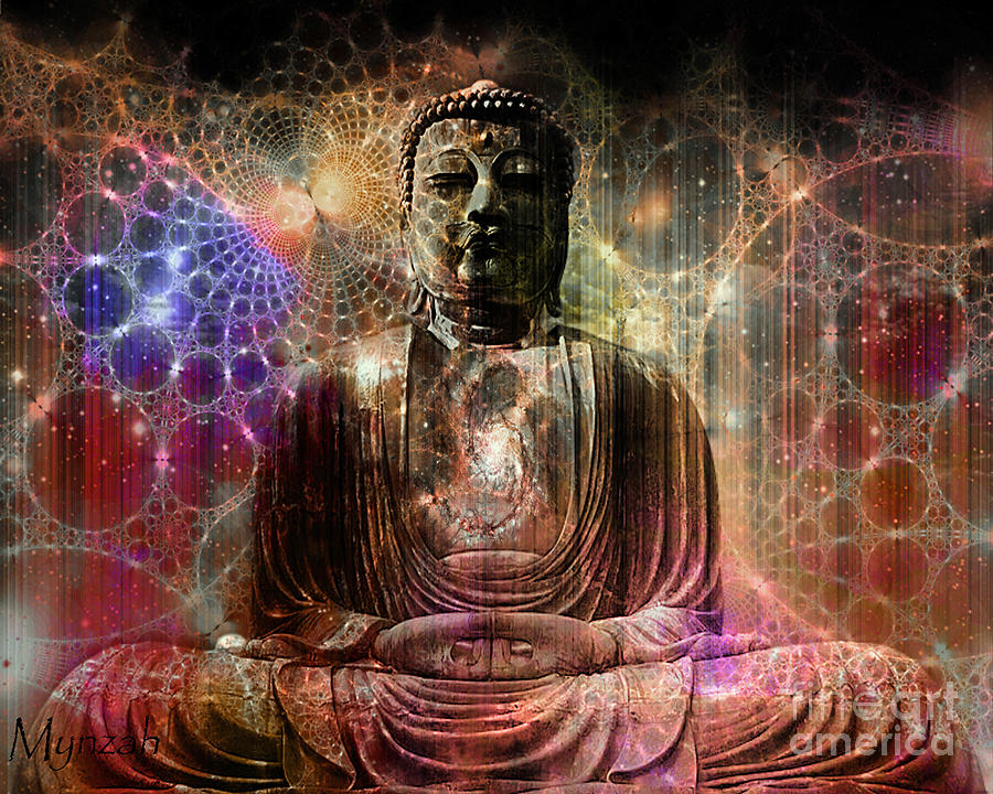 Lord Buddha Animated Wallpapers Cosmic Buddha Digital Art By Mynzah Osiris