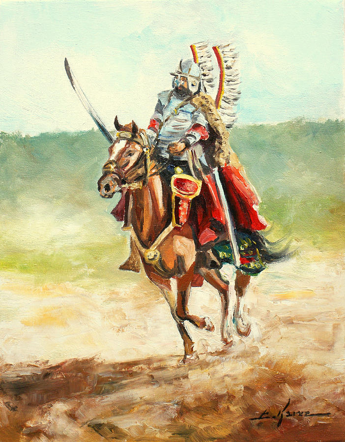 Free Girl Wallpaper For Android The Polish Winged Hussar Painting By Luke Karcz