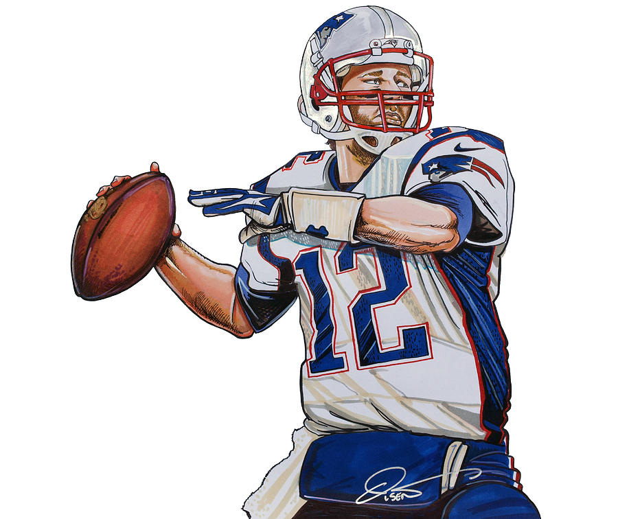 Tom Brady Wallpaper Iphone X Tom Brady Drawing By Dave Olsen